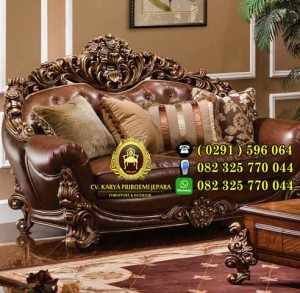 Kursi Tamu Klasik Eropa Mewah Waldorf Savana