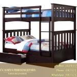 Tempat Tidur Tingkat Minimalis Kayu Jati