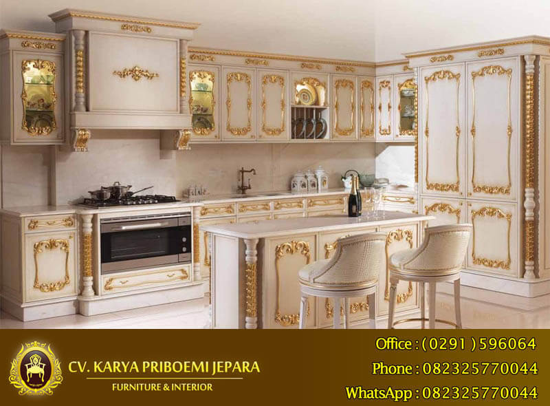 Harga Kitchen Set Duco Ukiran Jepara Model Klasik Mewah