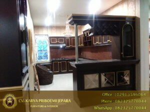 Kitchen Set Jati Antik Minimalis Jepara