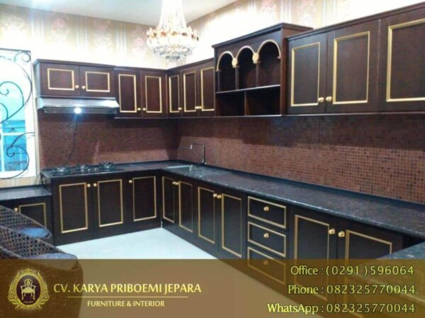Kitchen Set Kayu Jati Antik Minimalis