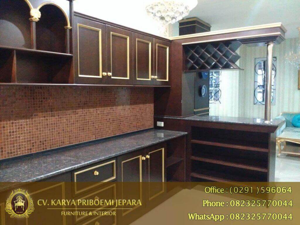 Kitchen set kayu jati antik minimalis for Kitchen set kayu jati