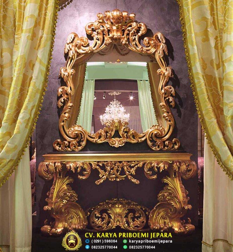 Meja Konsul Ukiran Mewah Italian Baroque