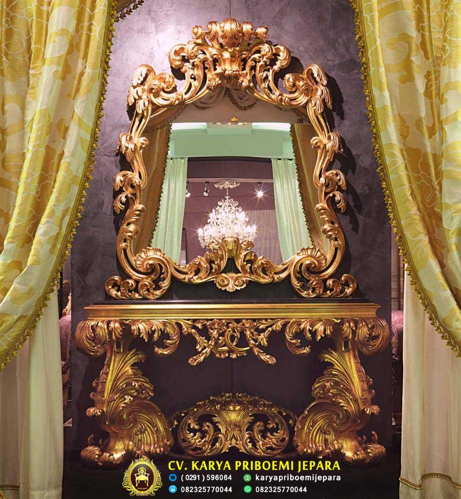 Meja Konsul Ukiran Mewah Italian Baroque, Meja Konsul Mewah, Meja Konsul Klasik, Meja Konsul Ukiran Jepara
