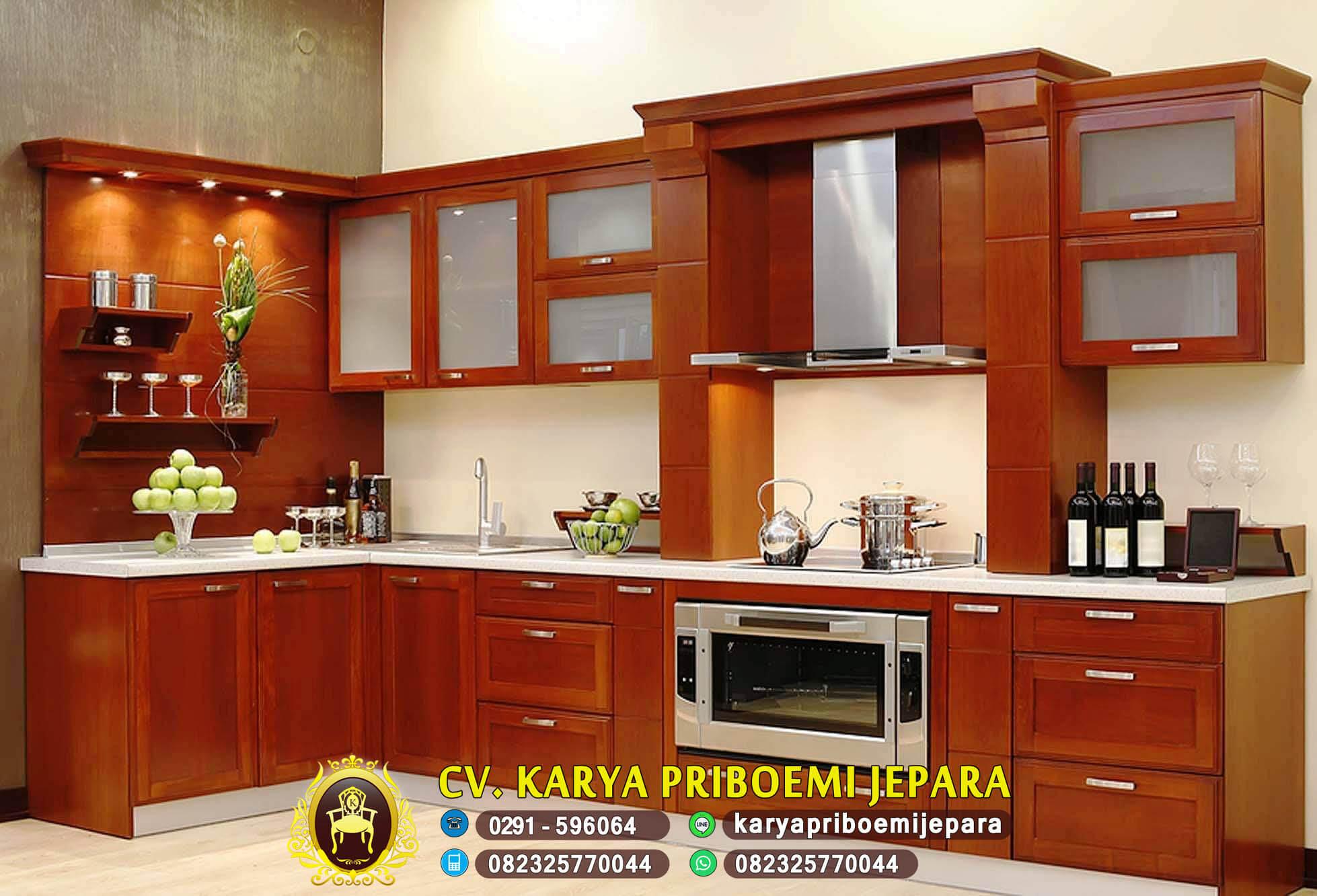 Pengrajin Kitchen Set Minimalis Jati Modern Asli Jepara Harga Murah