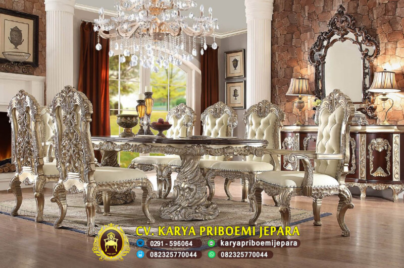 Set Meja Makan Mewah Royal Cleopatra
