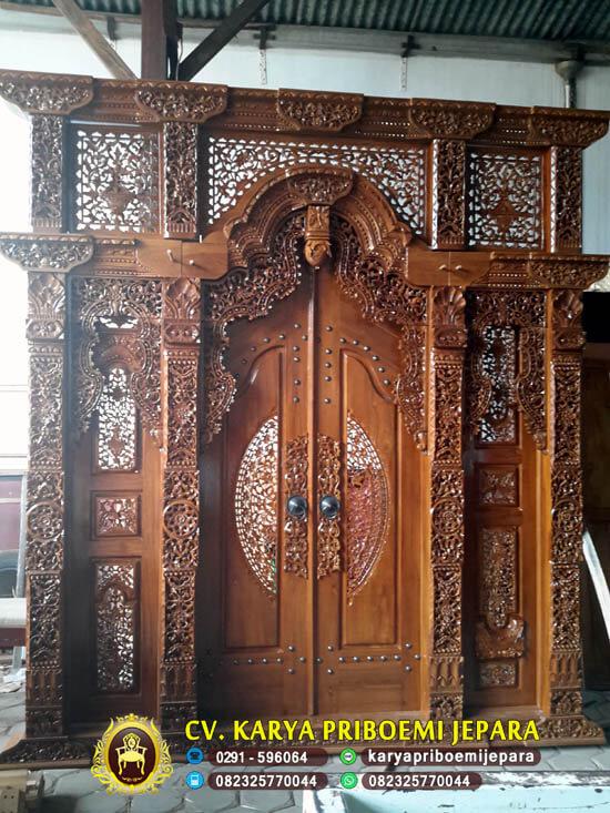 Pintu Gebyok Kayu Jati Ukir Jepara, Pintu Gebyok, Pintu Rumah Gebyok, Pintu Gebyok Jati