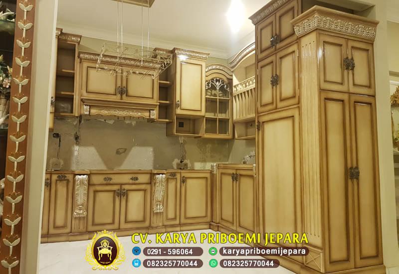 Kitchen Set Mewah Ukiran Jepara