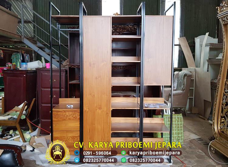 Lemari Pakaian Minimalis Industrial Furniture Jepara