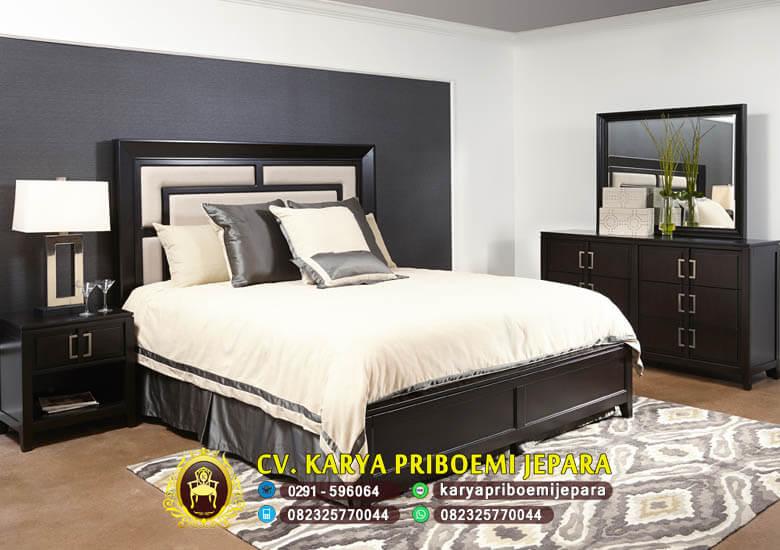 Set Kamar Tidur Minimalis Modern Jati Jepara Terbaru