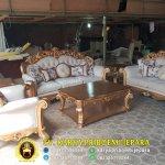 Kursi Tamu Sofa Gold Emas Patina Ukir Jepara Mewah Terbaru