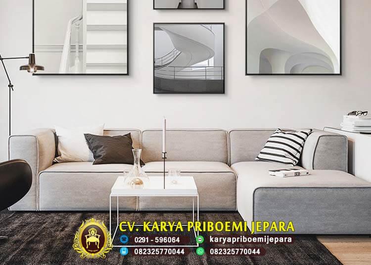 Sofa Sudut Minimalis Tanpa Kaki