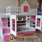 Tempat Tidur Tingkat Warna Pink