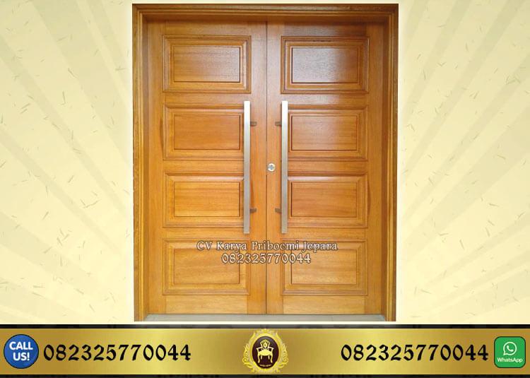 Pintu Kupu Tarung Kayu Jati Minimalis Modern Terbaru