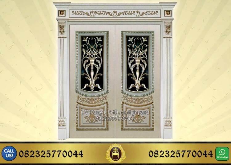 Pintu Kupu Tarung Ukir Klasik Mewah Jepara