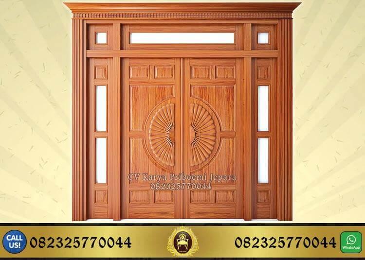 Pintu Rumah Kayu Jati Ukir Minimalis