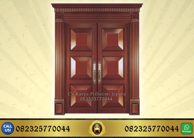 Pintu Rumah Utama Kayu Jati