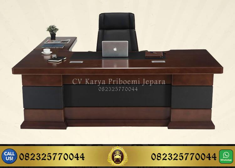 Meja Kantor Kayu Jati Minimalis, Meja Direktur Kayu Jati, Meja Kerja Kayu Jati