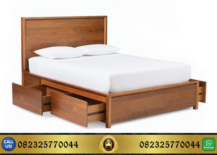 Jual Tempat Tidur Kayu Jati Model Minimalis Murah
