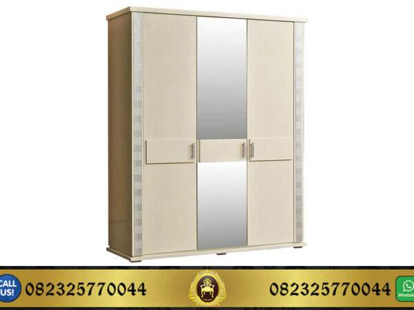 Lemari Pakaian 3 Pintu Putih Minimalis