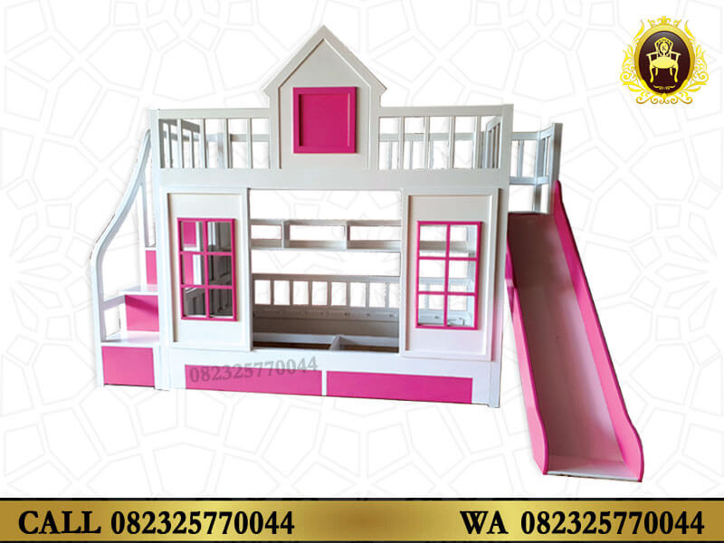 Tempat Tidur Anak Tingkat Warna Pink