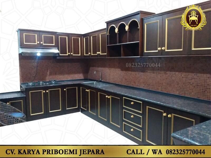 Kitchen Set Kayu Jati Antik Minimalis Jepara Harga Murah