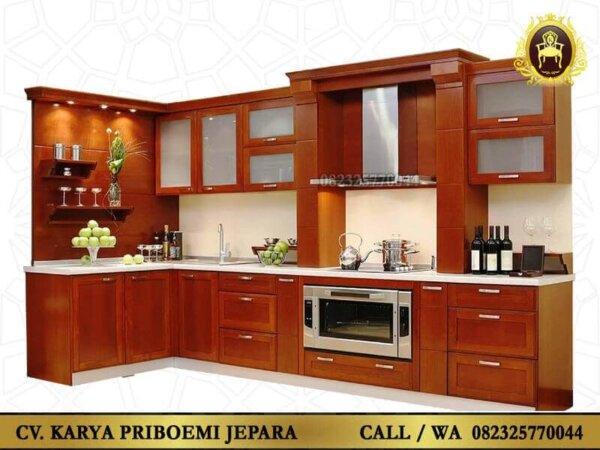 Kitchen Set Minimalis Modern Kayu Jati Jepara