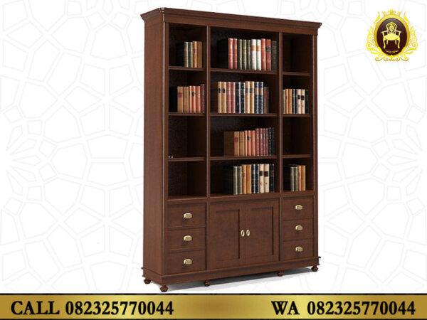 Lemari Buku Kayu Jati Jepara