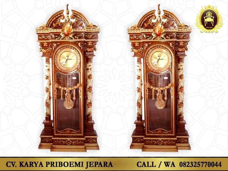 Lemari Jam Jati Brawijaya Ukir Jepara
