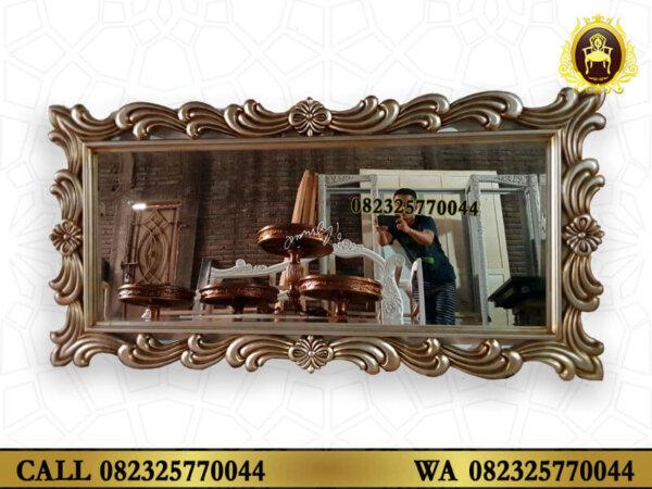 Pigura Cermin Klasik Model Turkey Ukiran Jati Jepara