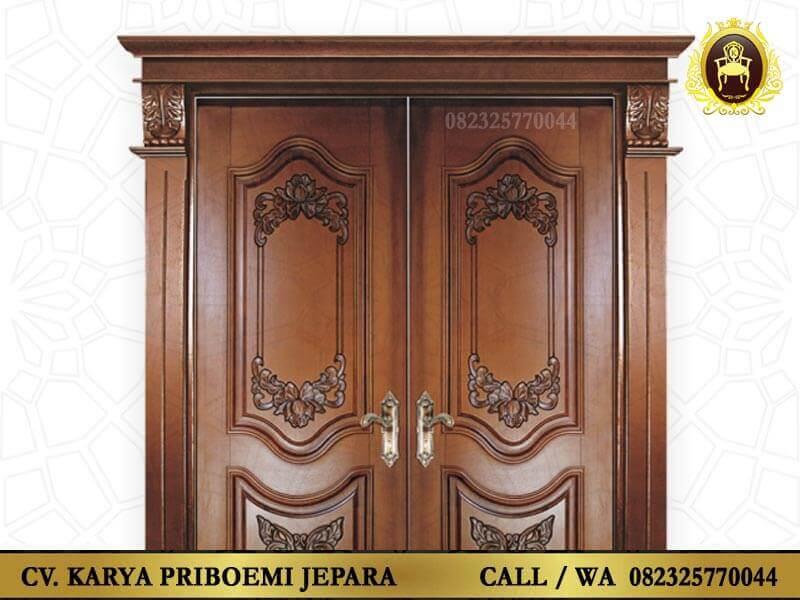 Pintu Rumah Mewah Kayu Jati Ukiran Jepara