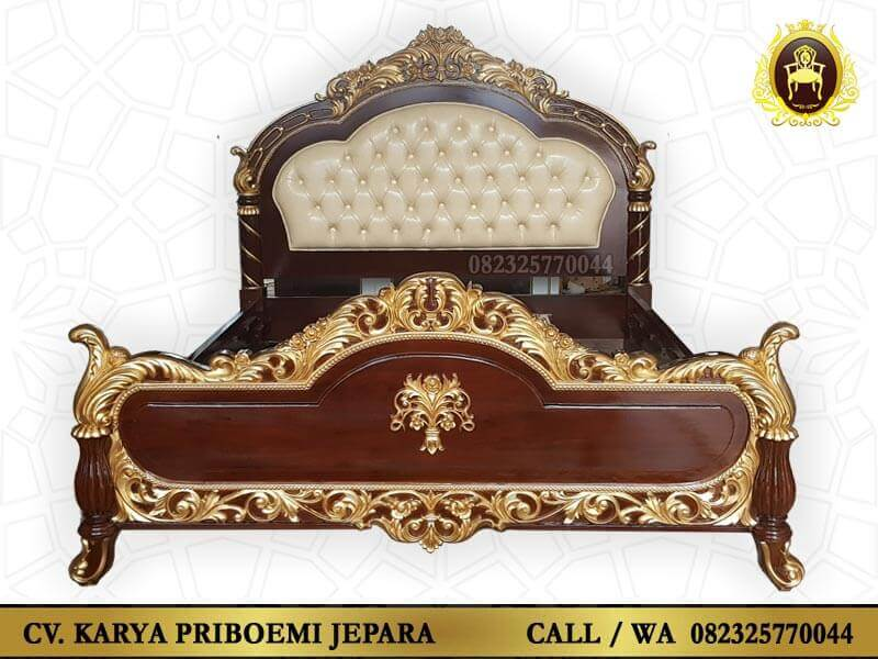 Tempat Tidur Mewah Kayu Jati Ukir Jepara