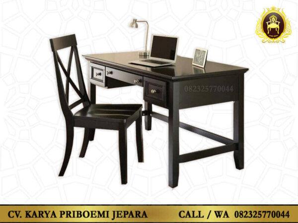 Meja Kantor Jati Minimalis Modern Jepara terbaru