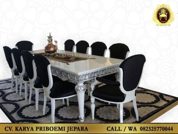 Set Meja Makan Klasik Modern Osmanli Ukir Jepara