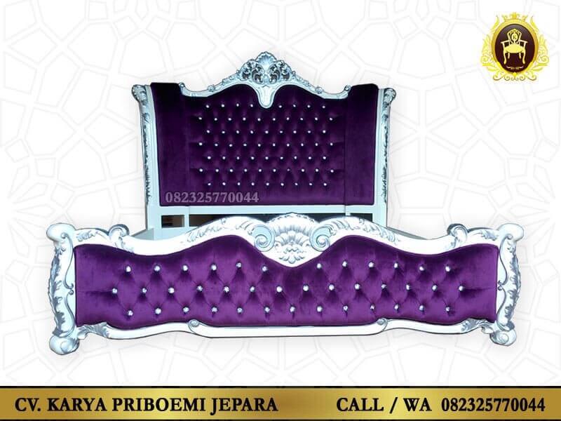 Tempat Tidur Mewah Victoria Model Ukiran Klasik Asli Jepara