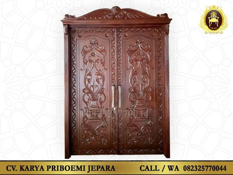 Pintu Rumah Kayu Jati Ukir Jepara