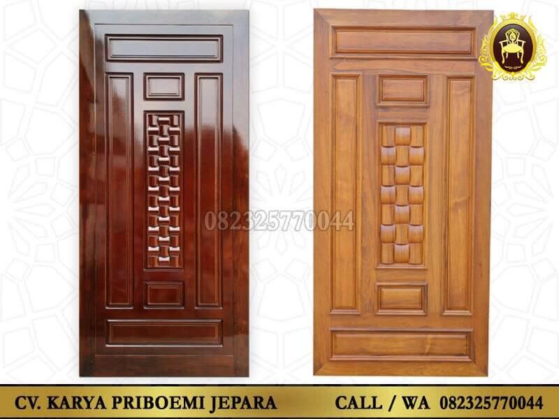Pintu Rumah Minimalis Kayu Jati Jepara