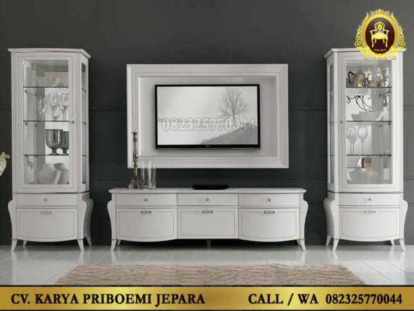 Set Bufet Tv Putih Klasik Modern Liberty
