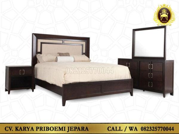 Set Kamar Tidur Minimalis Jati Jepara