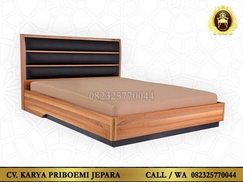 Tempat Tidur Minimalis Rustic Kayu Jati Jepara