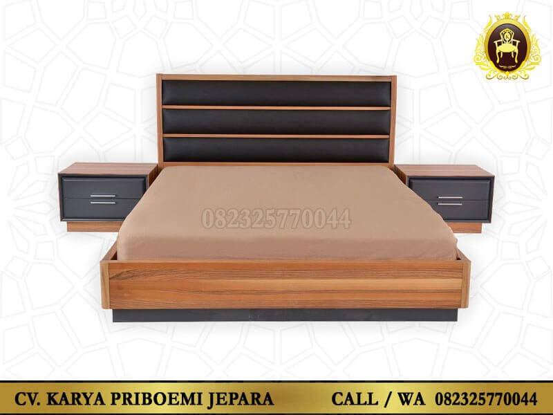 Tempat Tidur Minimalis Rustic Model Terbaru Kayu Jati Jepara