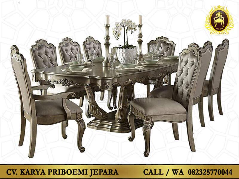 Meja Makan 8 Kursi Mewah