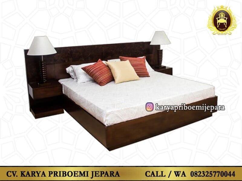Tempat Tidur Kayu Jati Minimalis Modern Murah Model Terbaru