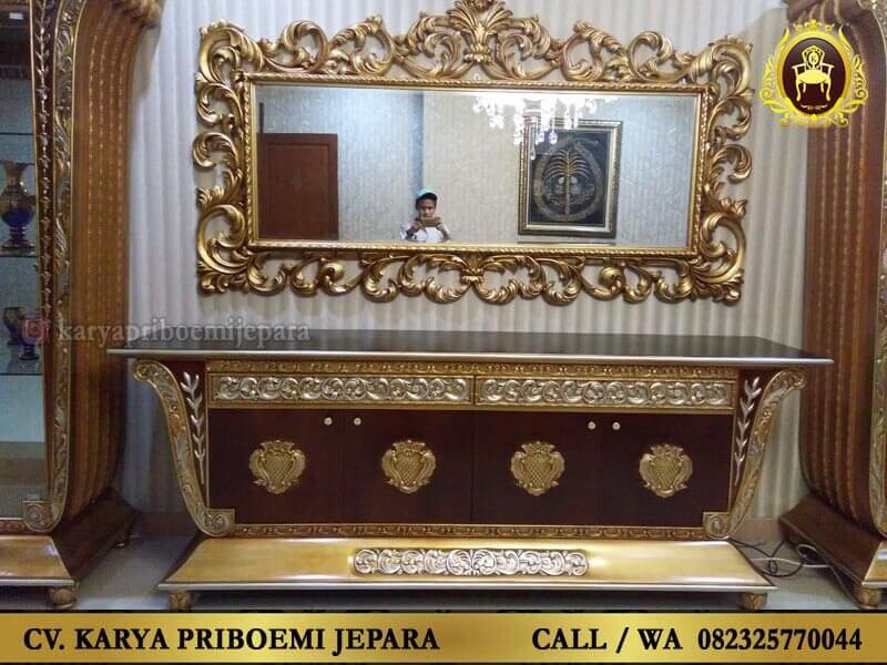 Bufet Tv Baroque Ukiran Jepara Model Klasik Mewah