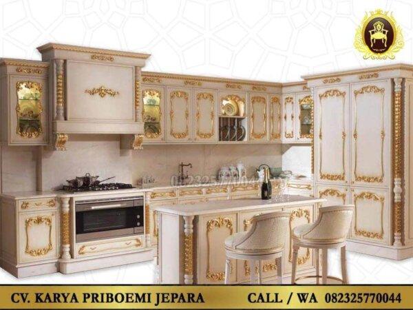 Kitchen Set Duco Mewah Ukiran Jepara