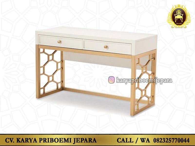 Meja Rias Martha Putih Emas Terbaru