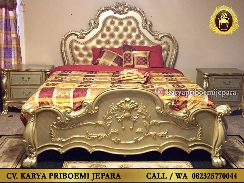 Tempat Tidur Klasik Mewah Ukiran Jepara