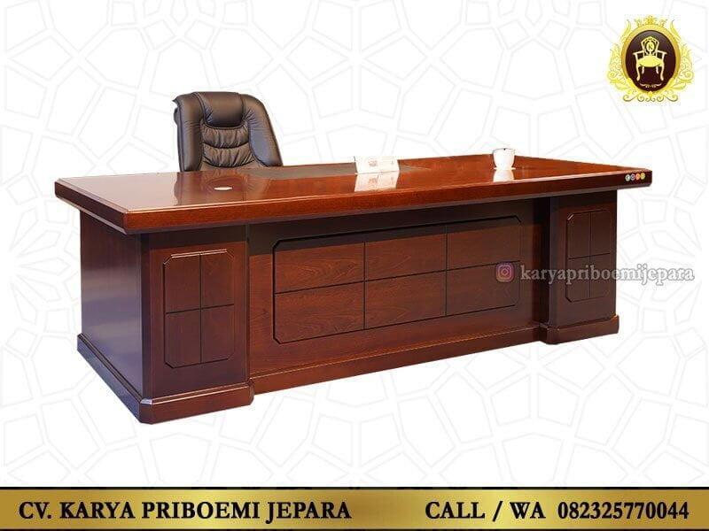 Meja Kantor Minimalis Modern Kayu Jati