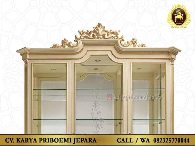 Detail Lemari Hias Mewah Ukir Jepara
